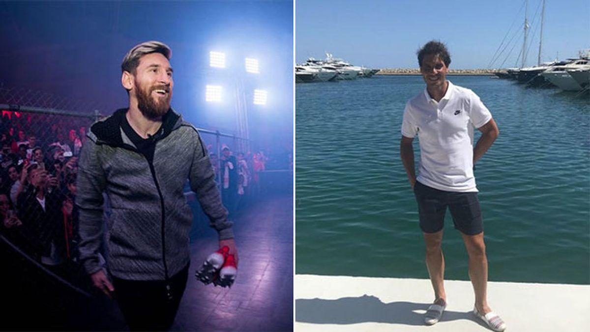 Leo Messi y Rafa Nadal, juntos en un conocido restaurante de Ibiza