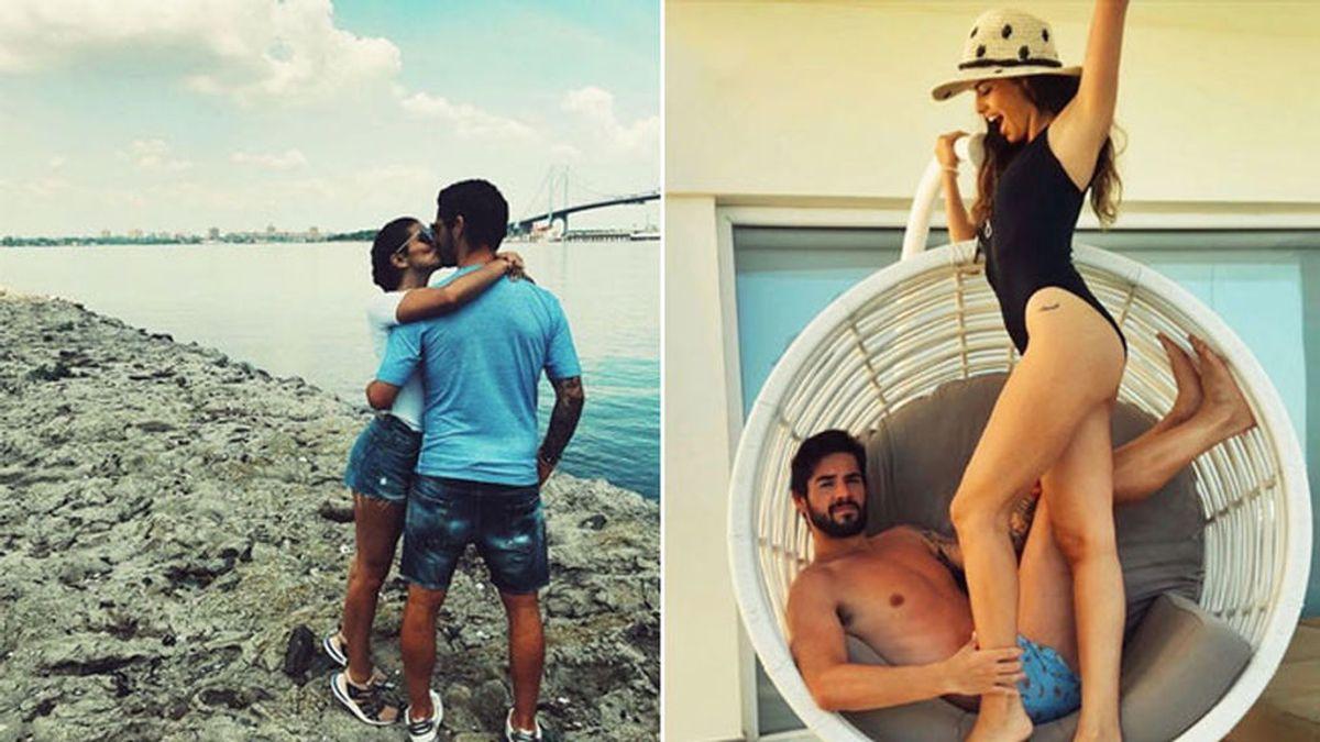 ¡Locura de verano! Sara Sálamo rapa el pelo a Isco durante sus vacaciones en Bahamas