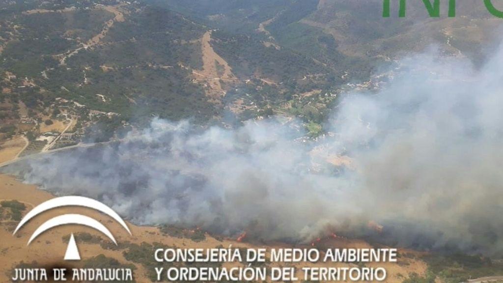 Declarado un incendio forestal en Casares