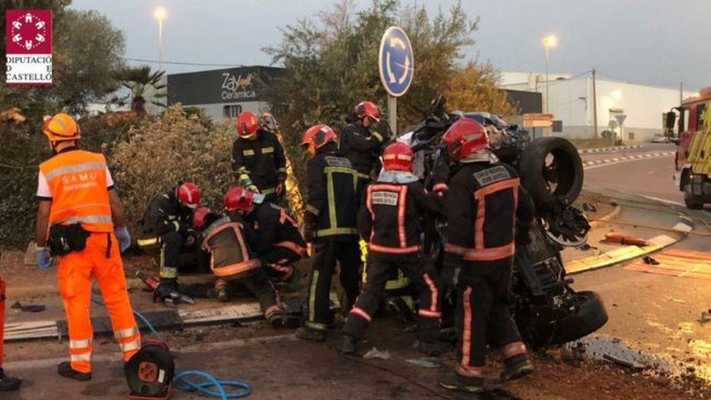 Muere un motorista y otro resulta herido al chocar en la CV-170 en Castellón