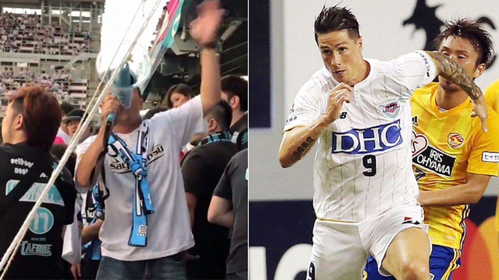 """La afición del Sagan Tosu ya canta el """"Fernando Torres, lo lo lo lo…"""", canción de la grada del Atlético para apoyar al delantero"""