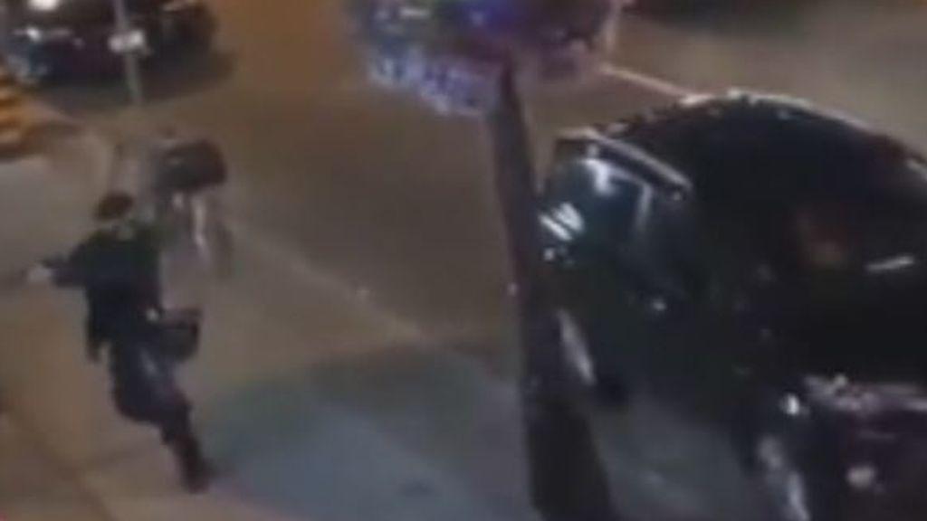El asesino de Toronto, en pleno tiroteo