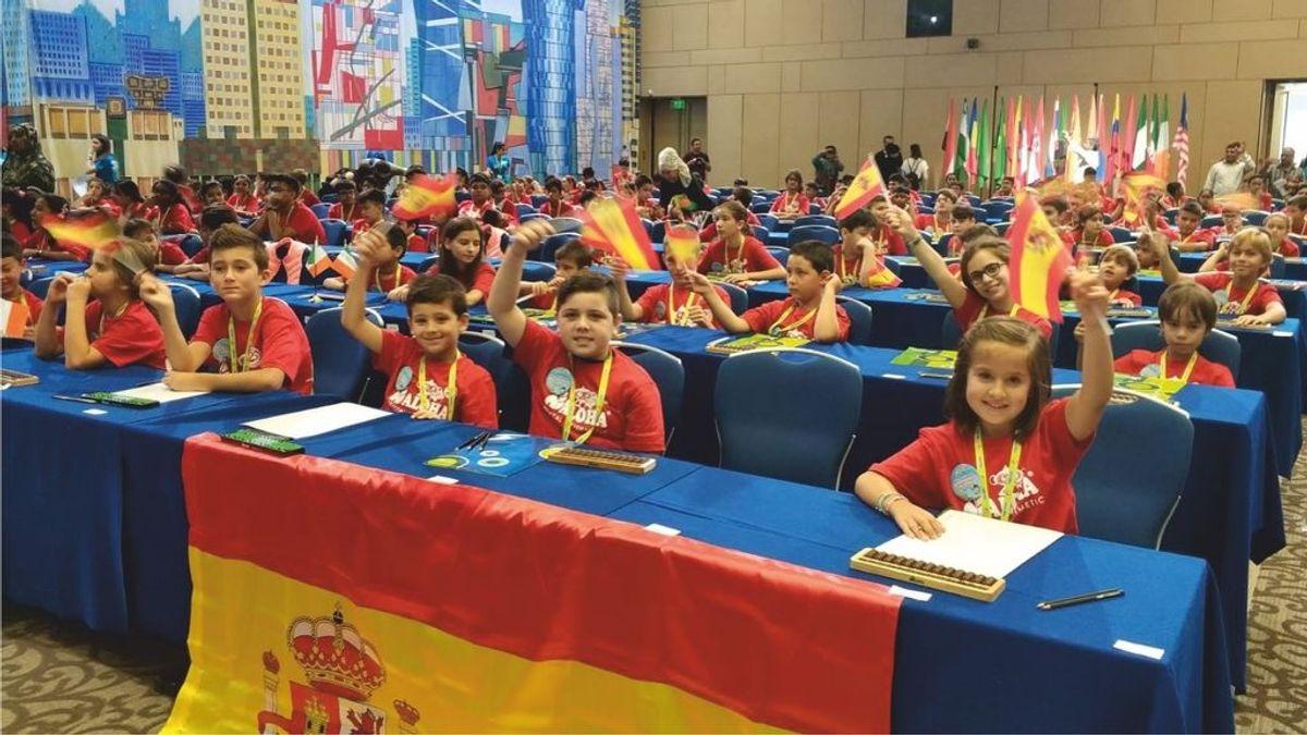 Tres niños españoles se proclaman Campeones del Mundo de Cálculo Mental en Rusia