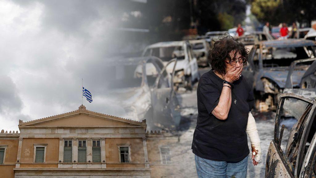 Incendios en Grecia: la previsión meteorológica de Atenas que tanto puede influir en la evolución de los fuegos