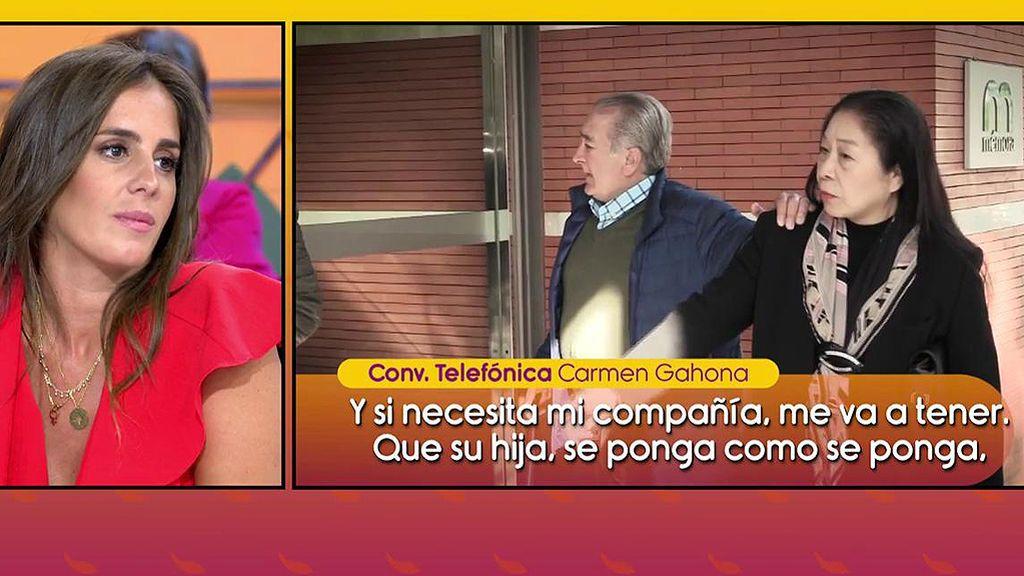 """Carmen Gahona acaba llorando al hablar del padre de Anabel Pantoja: """"Es el único de la familia que merece la pena"""""""