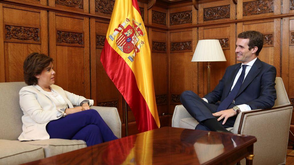 Santamaría pide a Casado que se respete su 43 % de apoyos y acuerdan que sus equipos negocien los órganos