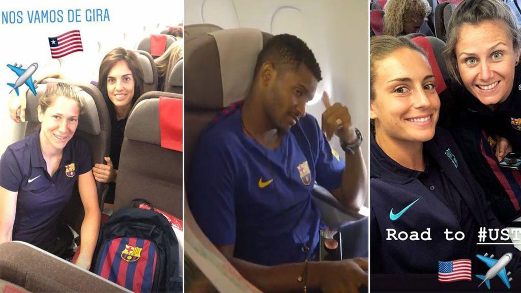 Los jugadores del Barça viajan a la gira por Estados Unidos en 'business' y las féminas lo hacen en clase turista