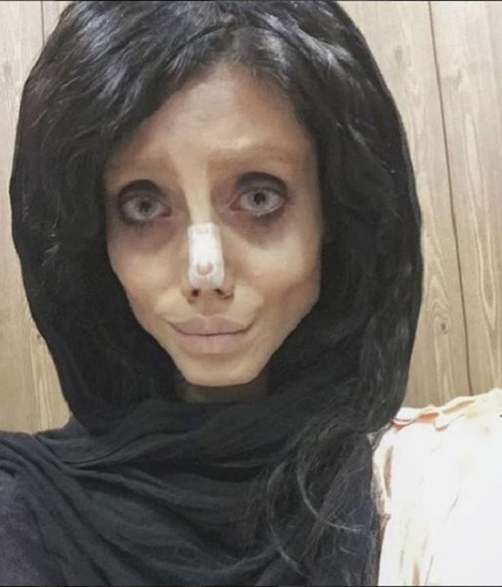 Sahar Tabaar, la joven apodada en Instagram como 'Angelina Jolie zombie'
