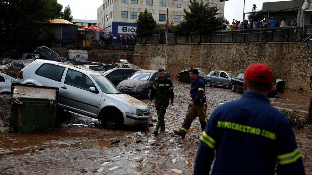 Grecia, de los trágicos incendios a las fuertes inundaciones