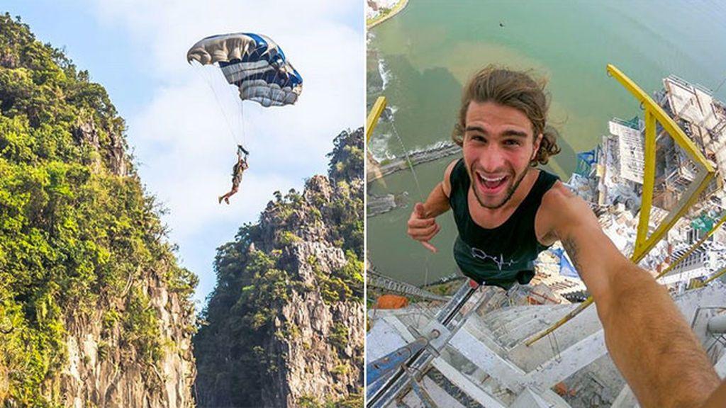 Chase Reinford, el youtuber de salto base que se juega la vida en cada vídeo