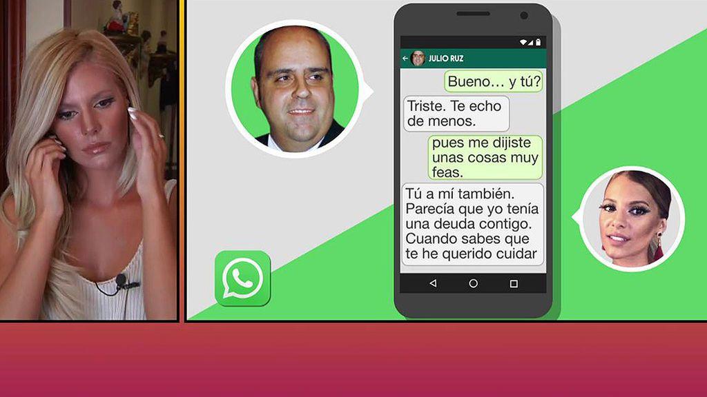"""La nueva 'amiga' de Julio Ruz muestra unos comprometidos mensajes: """"Estoy triste, te echo de menos"""""""