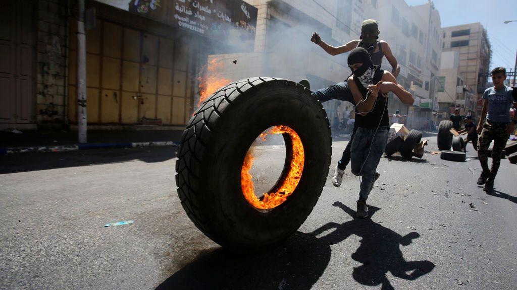 Protestas de los palestinos en los territorios ocupados en Hebron