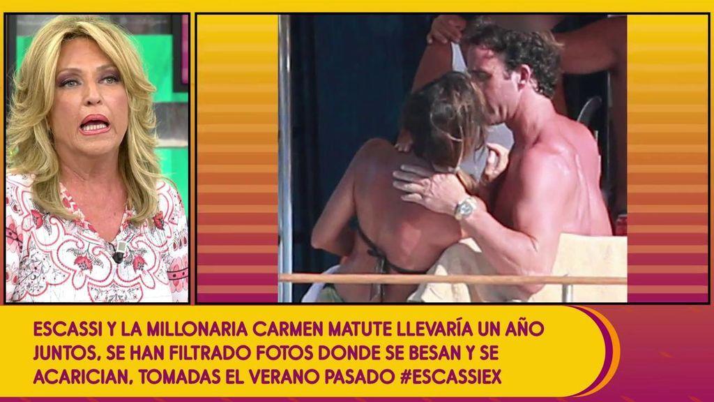 """Lydia lozano deja caer que Alvaro Escassi podría haber sido desleal a Carmen Matutes: """"Le gustan mucho los baños"""""""
