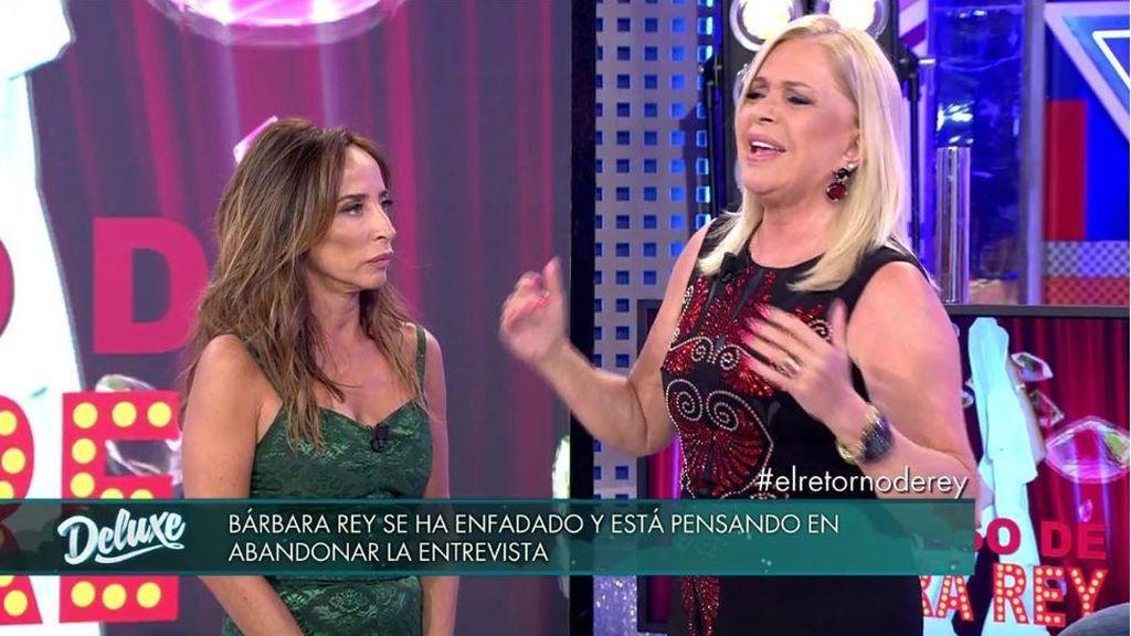 Enfado monumental de Bárbara Rey: ¡corta la entrevista y se quiere ir del plató!