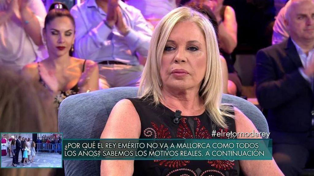"""Bárbara Rey, al vincularle con el Rey Emérito: """"Hay personas a las que se les tiene cariño"""""""