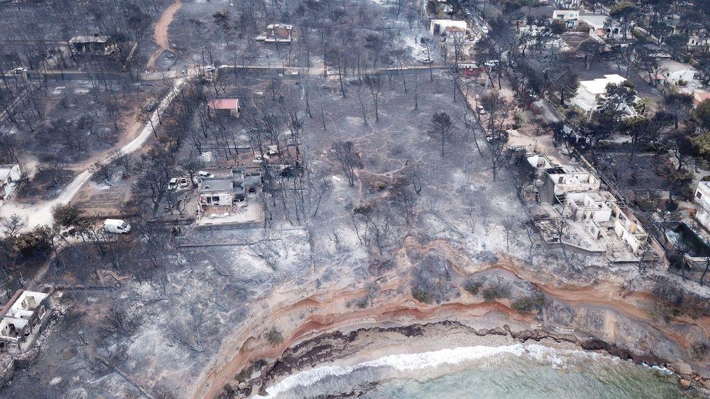 Elevan a 91 el número de muertos y confirman 25 desaparecidos por los incendios en Grecia