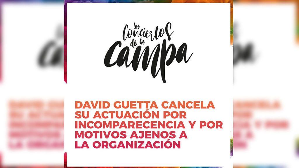 """No se comunicó antes la cancelación del concierto de Guetta """"por protocolo"""""""