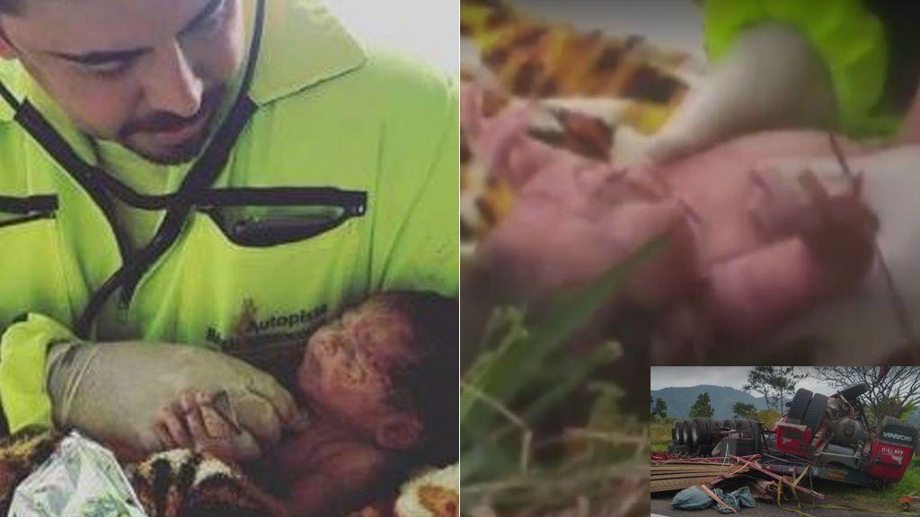 Milagro en Brasil: nace un bebé en medio de un accidente de tráfico en el que su madre murió
