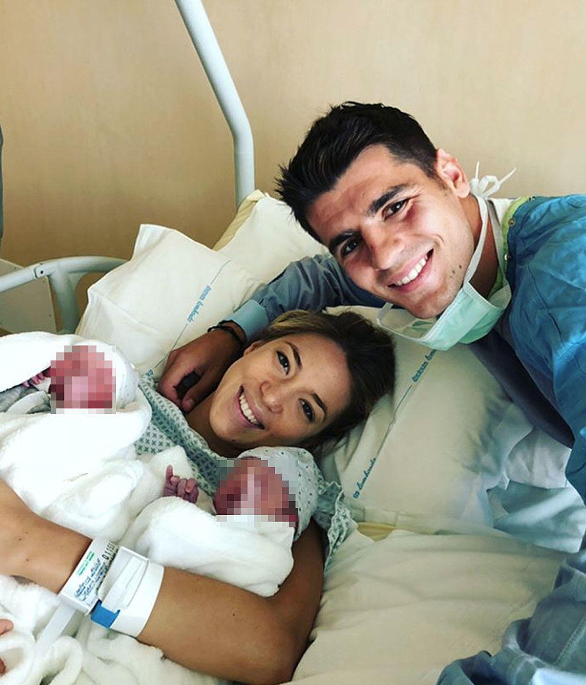¡Han nacido Alessandro y Leonardo, los hijos de Alice Campello y Álvaro Morata!