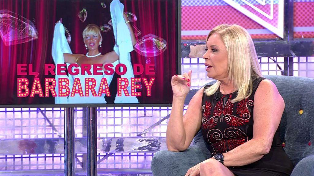 Bárbara Rey se moja con el tema Corinna y lanza una pullita a Alessandro Lecquio