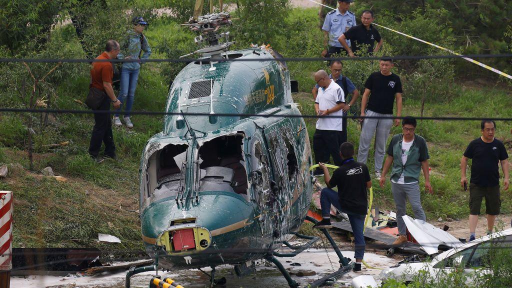 Accidente de helicóptero en Pekín