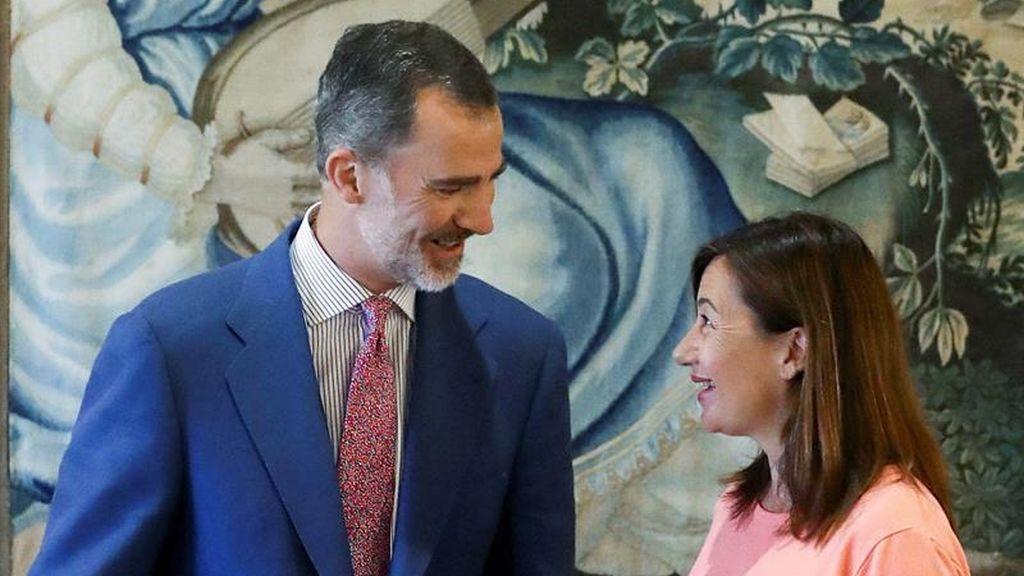 Ronda de audiencias con el Rey en Baleares