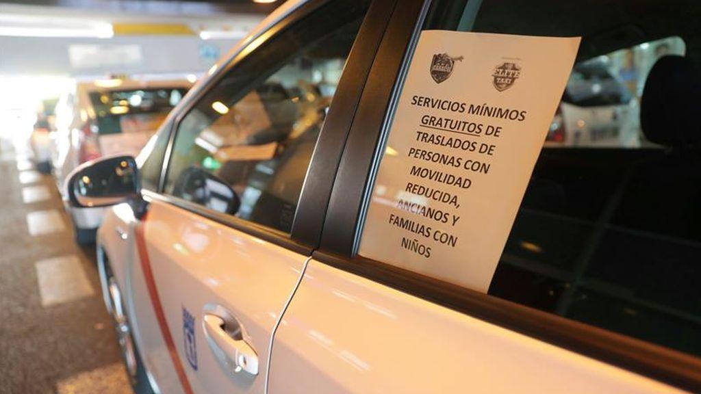 Madrid continúa en huelga de taxis