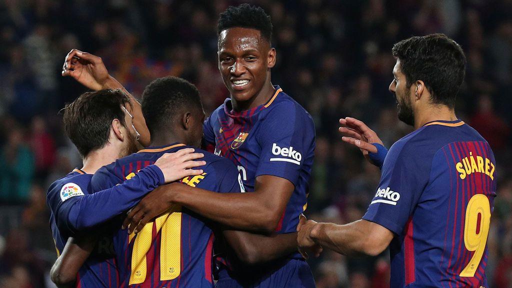 "Yerry Mina desvela como fue su llegada al Barça: ""Messi, Suárez e Iniesta me quitaban 50 euros todos los días"""