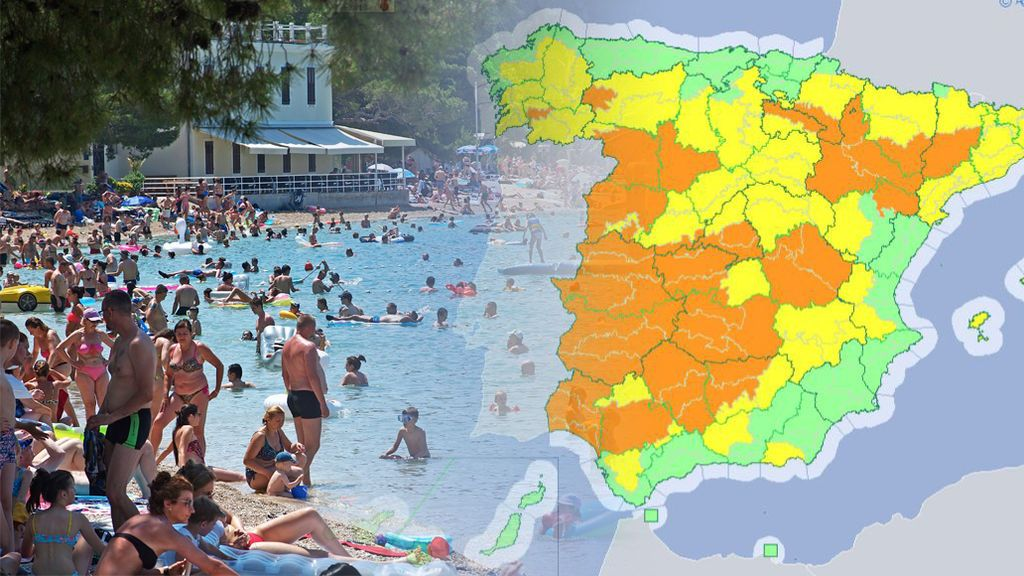 La cosa se pone fea a partir del miércoles: casi toda España, en aviso amarillo y naranja por calor