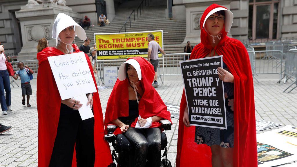 Protesta contra Trump y Pence en Nueva York