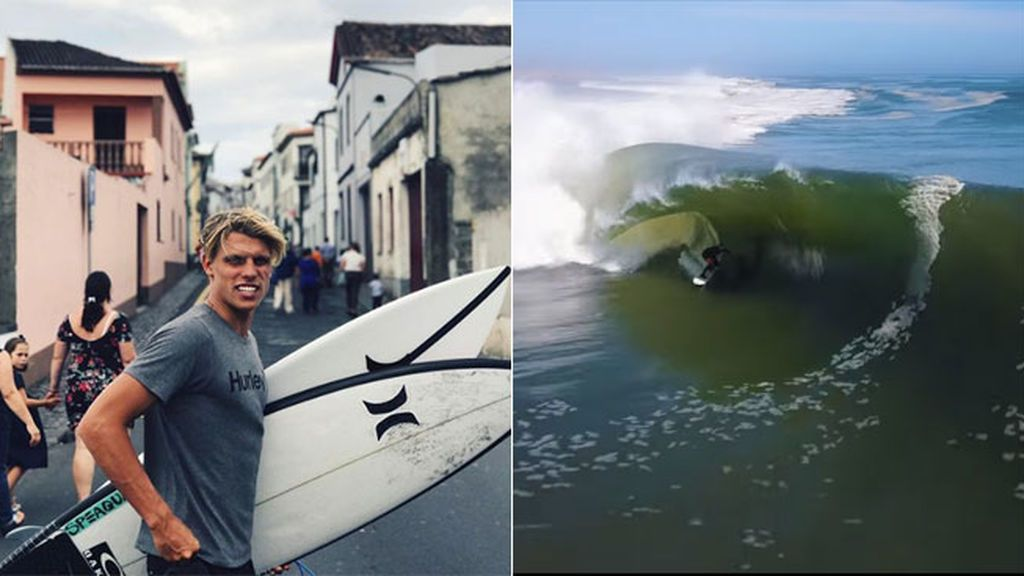 ¡Increíble! Un surfista aguanta dos minutos sobre la misma ola