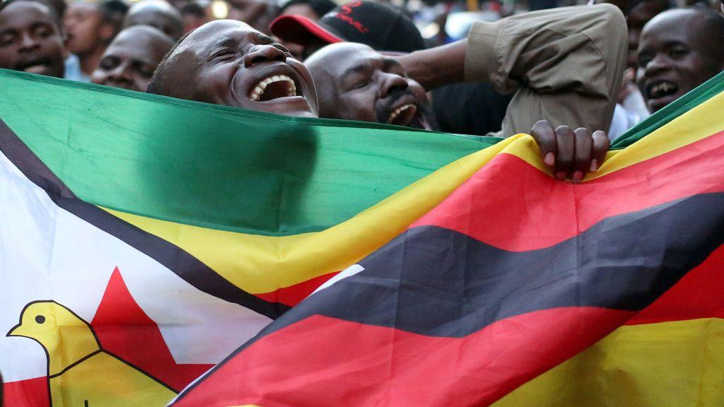Celebración post electoral en Zimbabwe