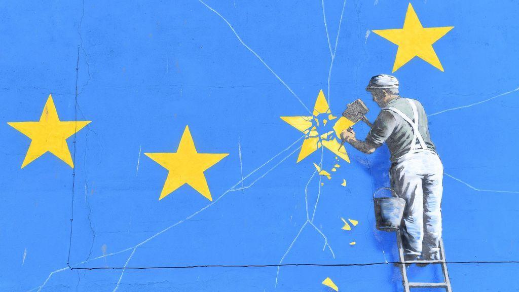 Mural de la bandera de la UE
