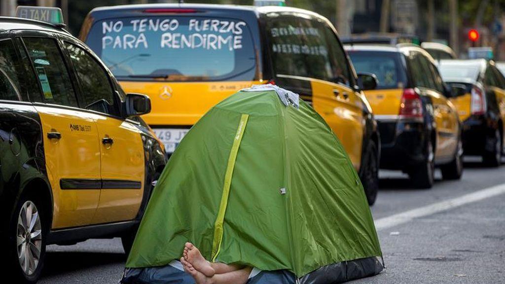 Los taxistas de Barcelona no se rinden