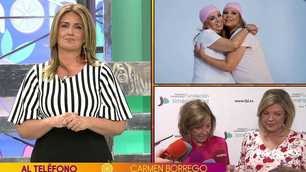 """Carmen Borrego dice que Terelu sigue con molestias y algún dolor: """"No son días buenos para mi familia"""""""