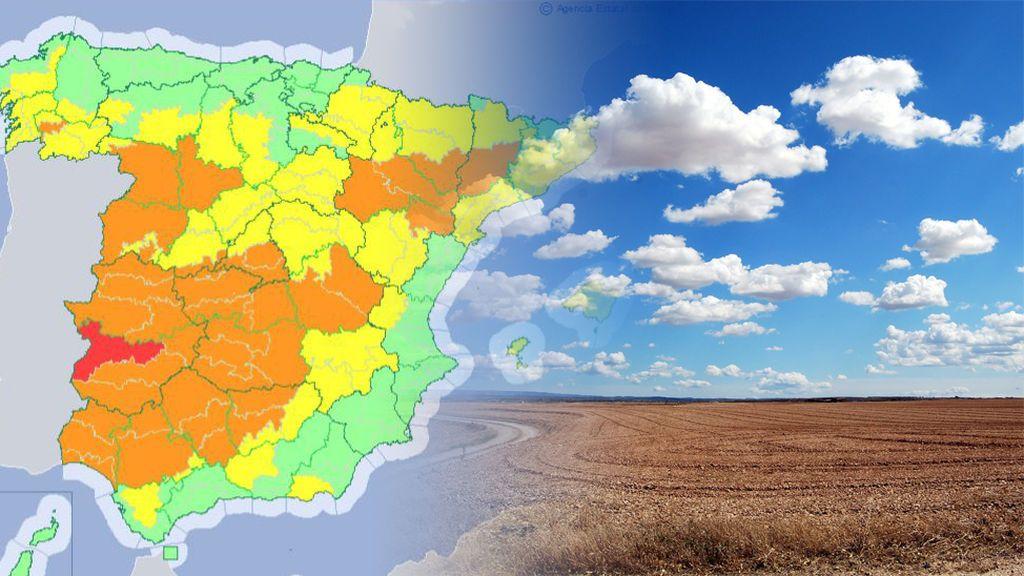 La situación se agrava: llegan los primeros avisos de riesgo extremo por máximas superiores a 44ºC