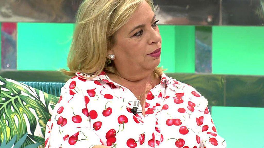 """Carmen Borrego: """"Mi hermana se está ocupando de lo que se tiene que ocupar, no se plantea tener una relación"""""""