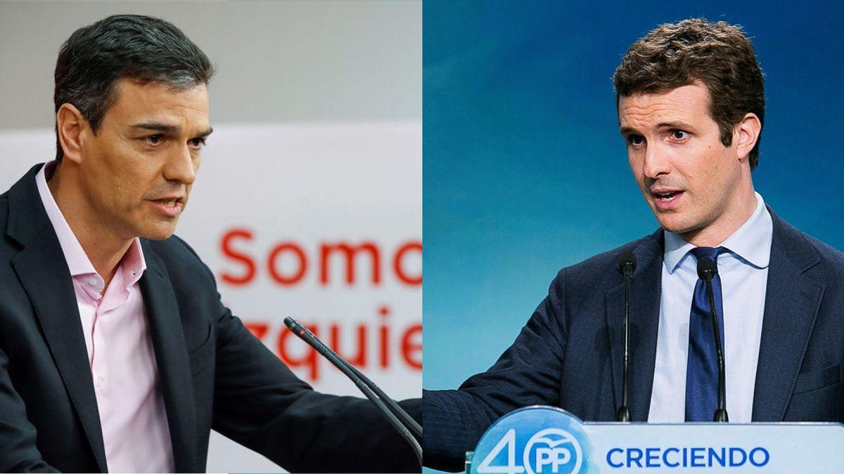 Sánchez y Casado buscan con su cita en Moncloa pactos de Estado sobre Catatuña e inmigración