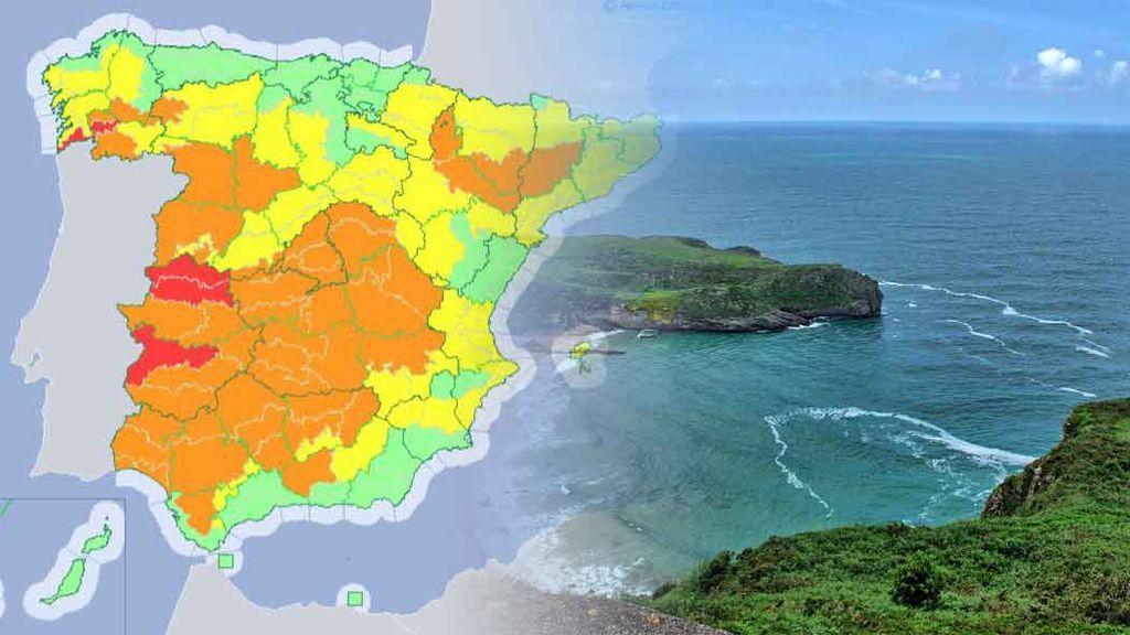 Increíble pero cierto: están activados los avisos en Galicia por máximas de más de 42ºC