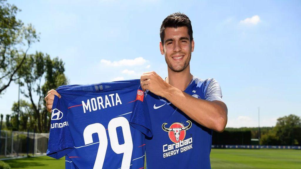 Álvaro Morata cambia de dorsal en el Chelsea tras el nacimiento de sus gemelos