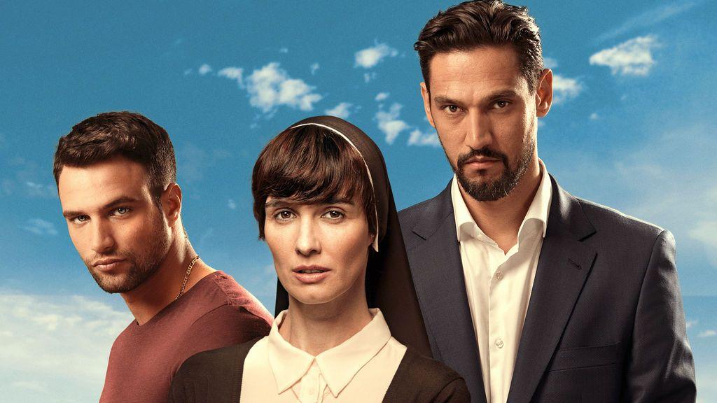 Jesús Castro, Paz Vega y Stany Coppet son Rafa, sor Lucía y Bruno en la serie 'Perdóname, Señor'.