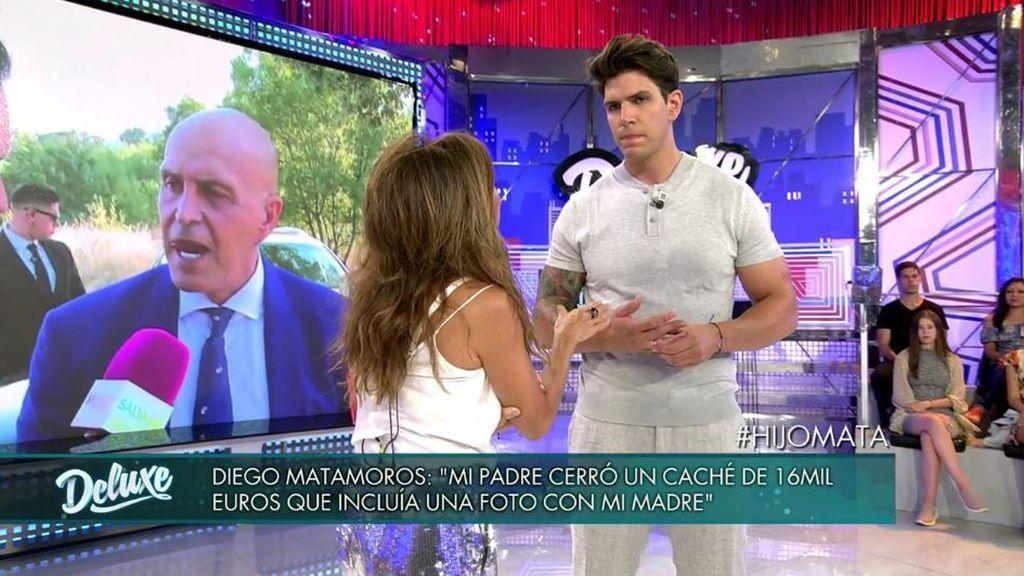 """Diego Matamoros, decepcionado con su padre: """"Vino a mi boda por dinero, cerró un caché de 16.000 euros"""""""