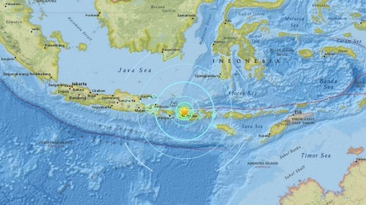 Alerta inicial de tsunami por un terremoto de magnitud 7,0 en Indonesia