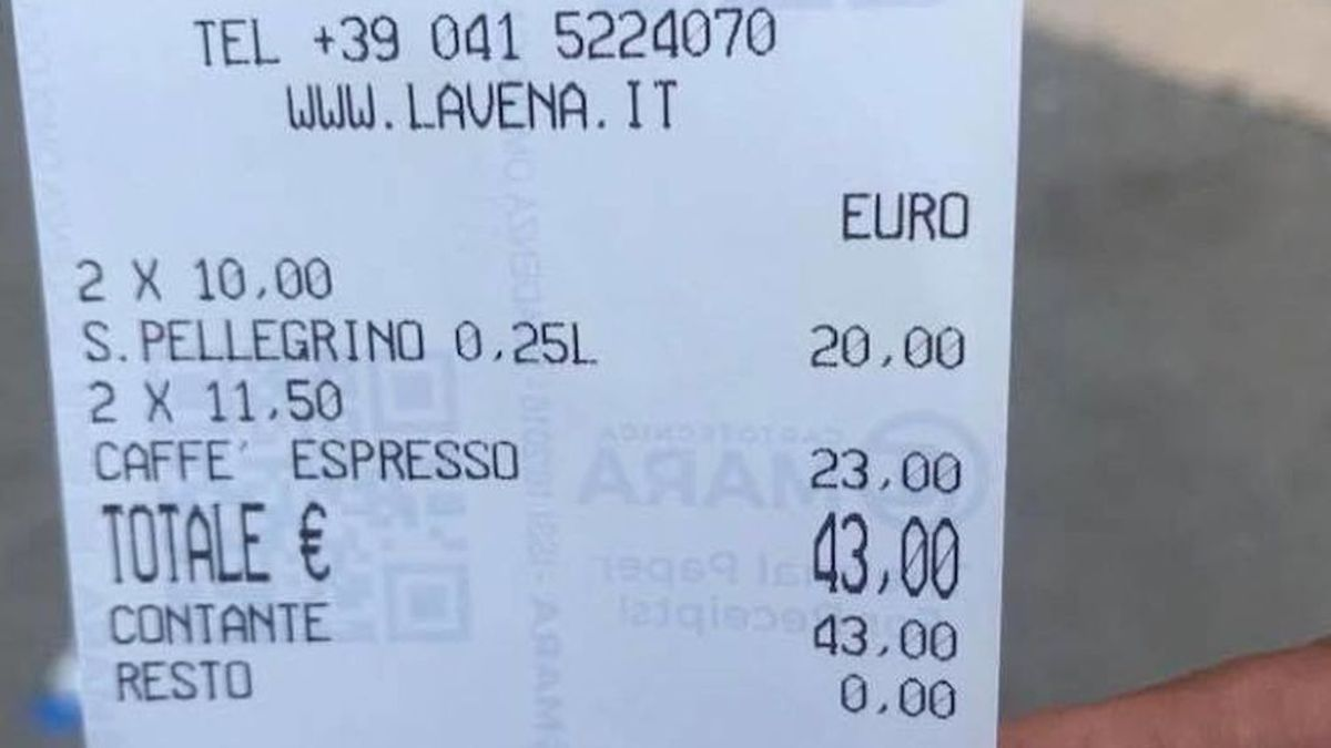 cafe venecia factura cuenta cara timo viral