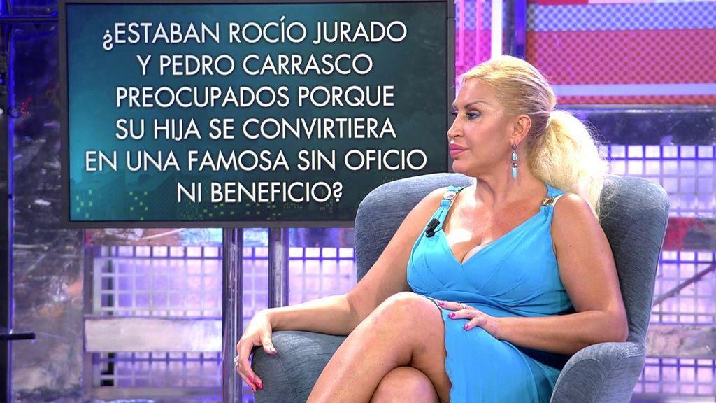 Raquel Mosquera revela la preocupación de Rocío Jurado y Pedro Carrasco por su hija Rocío