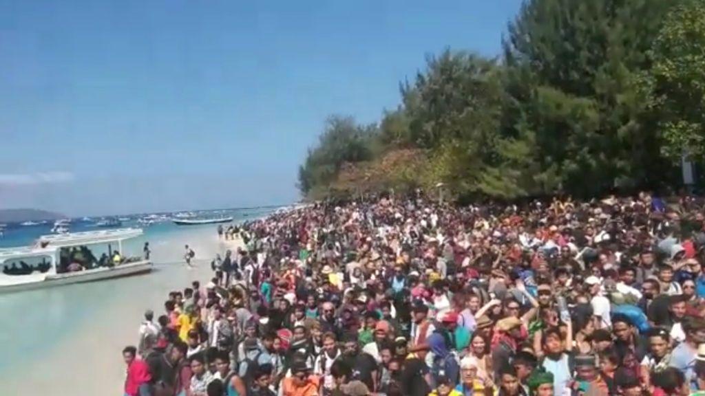 Evacúan la Isla Gili Trawangan tras el terremoto