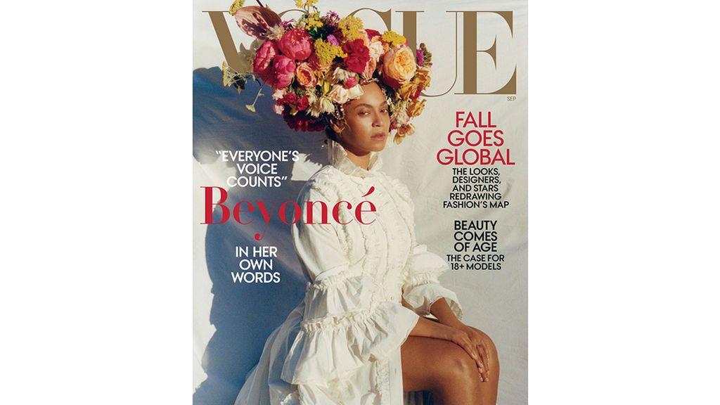 La cantante Beyoncé, en una de las portadas del 'September issue' de la revista 'Vogue'.