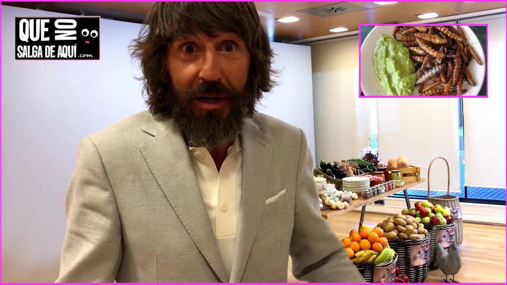 El test culinario a Santi Millán: come insectos pero odia un plato típico del verano