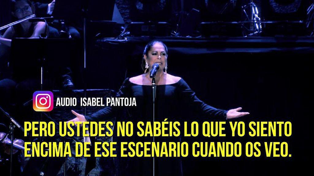 """El 'todopoderoso' audio de Isabel Pantoja a sus fans: """"Solamente por oírme cantar y daros un beso os hago felices"""""""