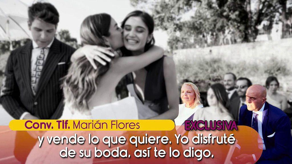 Marián Flores ataca a Kiko Matamoros: cree que cobró por aparecer en la exclusiva de la boda de su hijo, Diego